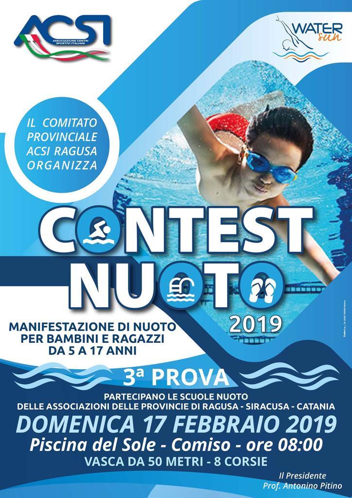 Piscina Del Sole Comiso.Contest Nuoto 2019